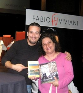 A picture of Fabio and me -- our books in hand!