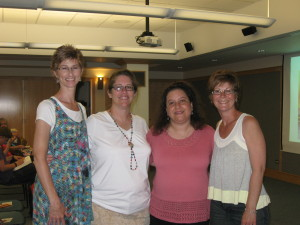Karen, Sarah, me, Joyce at Waukegan Library
