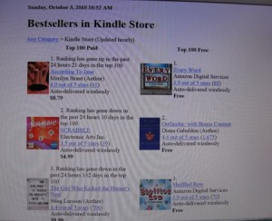Kindle bestseller 1--website